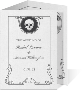 Ouija Board Trifold Halloween Wedding Invitation