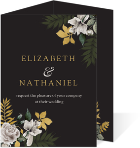 Romantic Floral Decor Trifold Wedding Invitation