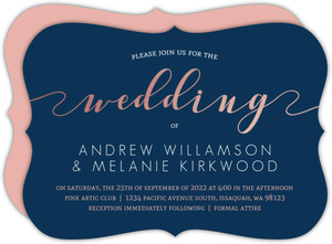 Rose Gold Foil Wedding Invitation
