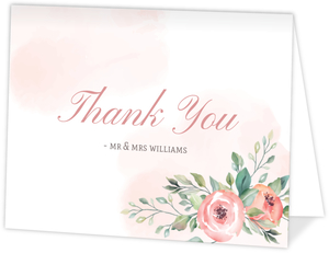 Blush Floral Arrangement Thank You Card
