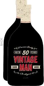 Vintage Bottle 50th Birthday Party Invitation
