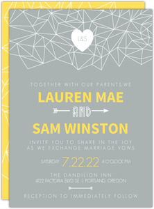 Modern Geometric Pattern Wedding Invitation