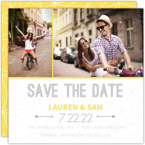 Modern Geometric Pattern Save the Date Announcement