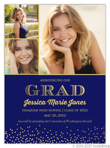 navy floral graduation announcement graduation announcements