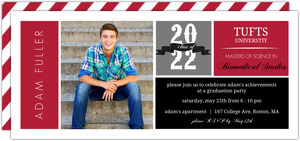 School Colors Graduation Invitation