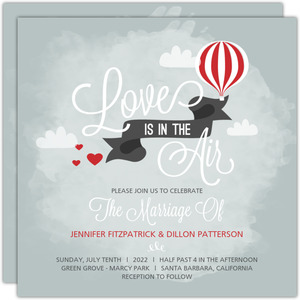 Sky High Love Wedding Invitation