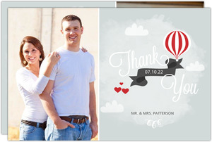 Sky High Love Wedding Thank You Card