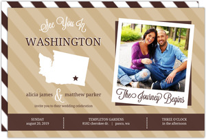 Brown Modern Statement Wedding Invitation
