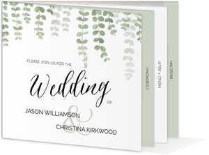 Eucalyptus Branches Booklet Wedding Invitation