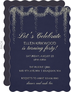 Whimsical Lights 40th Birthday Party Invitation