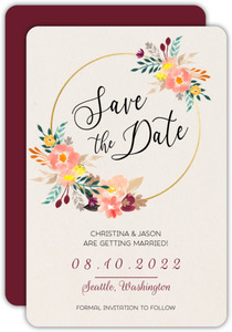 Floral Hoop Save the Date