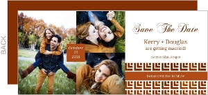 Geometric Pattern Save The Date Card