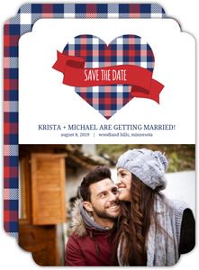 Country Tartan Plaid Save The Date Card
