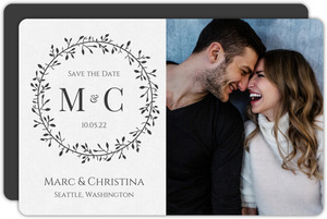 Skinny Wreath Initials Save the Date