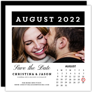 Simple Calendar Save The Date Announcement