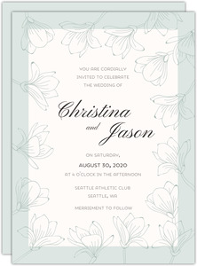 Modern State Heart Wedding Invitation