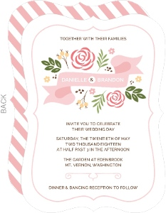 Whimsical Garden Wedding Invitation