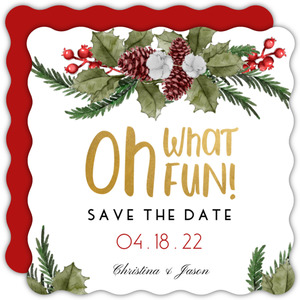 Oh What Fun Save The Date