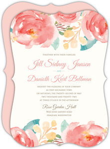 Elegant Watercolor Flower Wedding Invitation