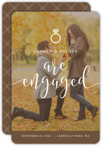 Simple Ring Icon Photo Engagement Annoucnement