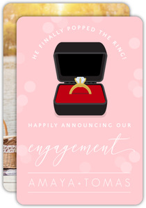 Black Ring Box Photo Engagement Announcement