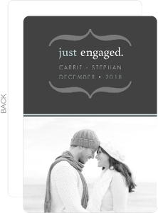 Gray Modern Brackets Engagement Announcement