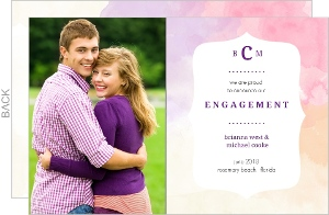 Purple Watercolor Engagement Announcement