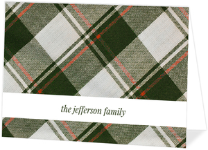 Holiday Plaid Thank You Card