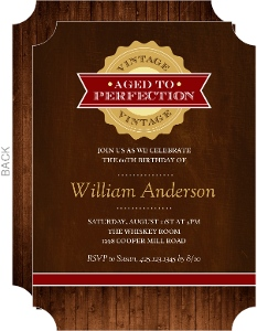 Vintage Aged to Perfection Birthday Invitation