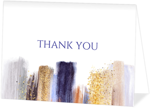 Glam Modern Paint Thank You Card