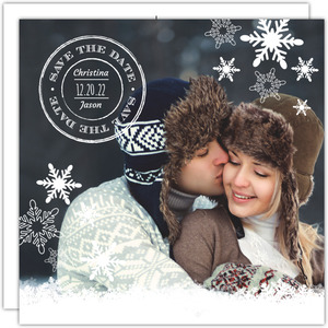 Winter Snowflakes Save The Date