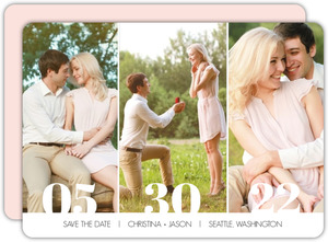 Triple Photo Save the Date