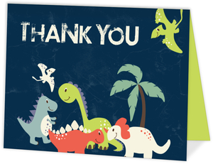 Dinosaur Friends Birthday Thank You Card