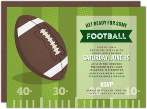 Football Field Outdoor Party Invitation