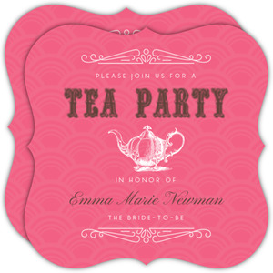Tea Party Vintage Style Bridal Shower Invitation