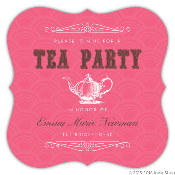 Tea party vintage style bridal shower invitation bridal shower tea party vintage style bridal shower invitation filmwisefo Image collections