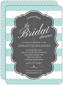 Paris Tea Bridal Shower Invitation
