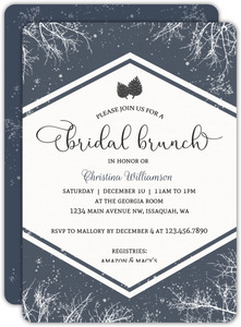 Whimsical Snowy Winter Bridal Shower Invitation