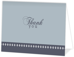 Gray-Blue Diamond Anniversary Thank You Card