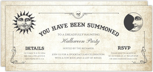 You Have Been Summoned Halloween Party Invitation