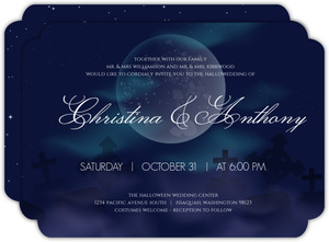 Aurora Moonlight Halloween Wedding Invitation