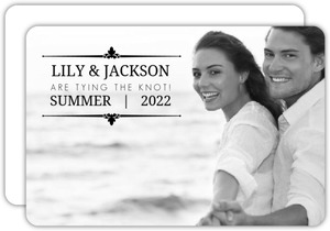 Simple Photo Text Frame Engagement Announcement