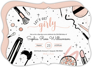 Girly & Blush Beauty Party Invitation