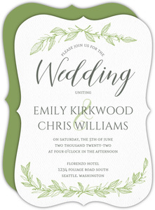 Spring Foliage Wedding Invitation