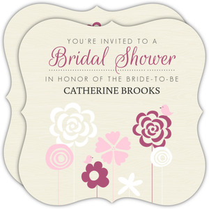 Flowering Field Bridal Shower Invitations