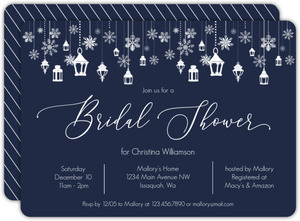 Snowflake Winter Wonderland Bridal Shower Invitation
