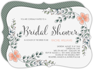 Cranberry Flourish Bridal Shower Invitation