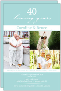 Modern Loving Years 40th Anniversary Invitation