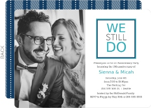 Modern We Do 10th Anniversary Invitation