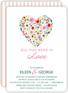 Budding Love 50th Anniversary Invitation